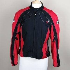 Joe Rocket red and black padded motorcycle jacket